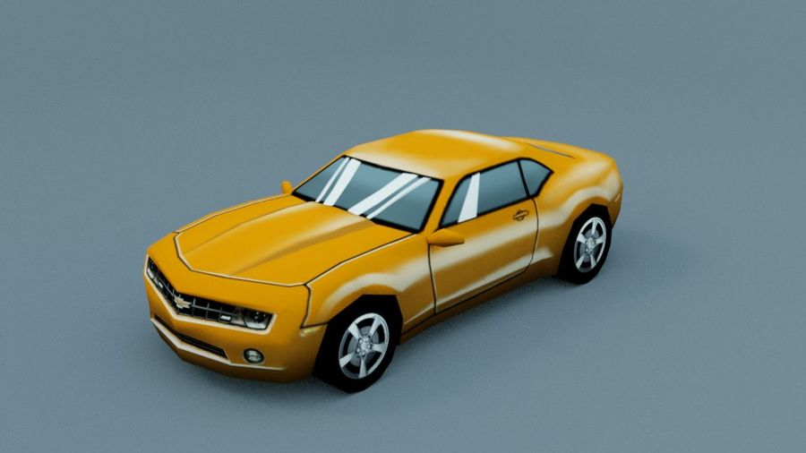 Low Poly Car royalty-free 3d model - Preview no. 7