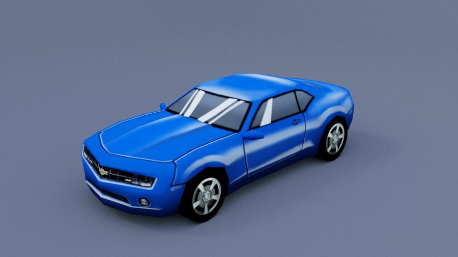 Low Poly Car royalty-free 3d model - Preview no. 8