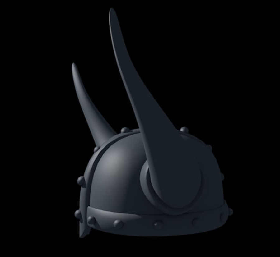 Viking Helmet royalty-free 3d model - Preview no. 2