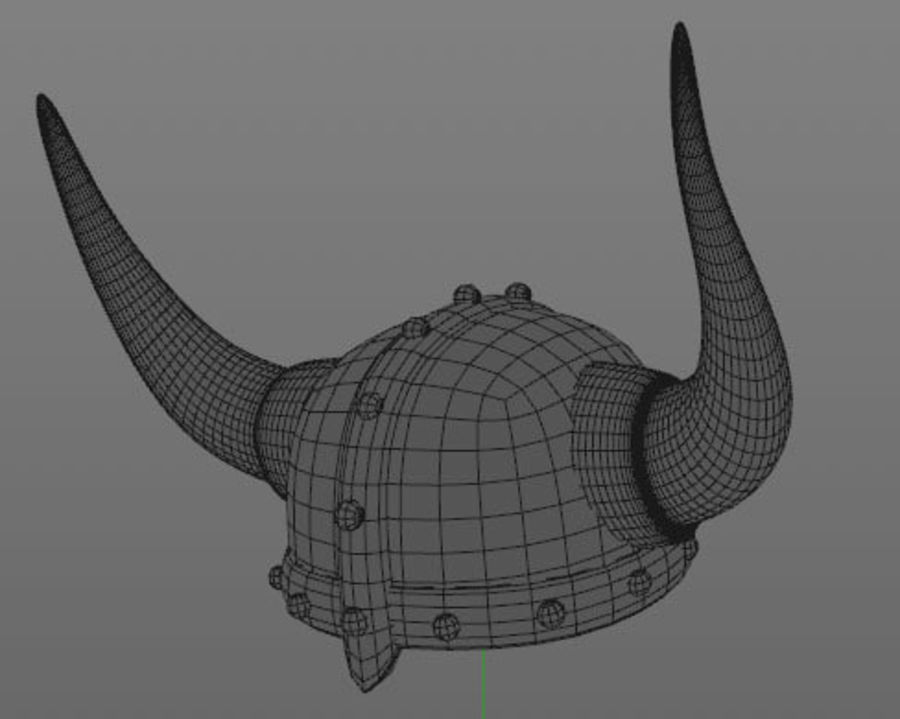 Viking Helmet royalty-free 3d model - Preview no. 3