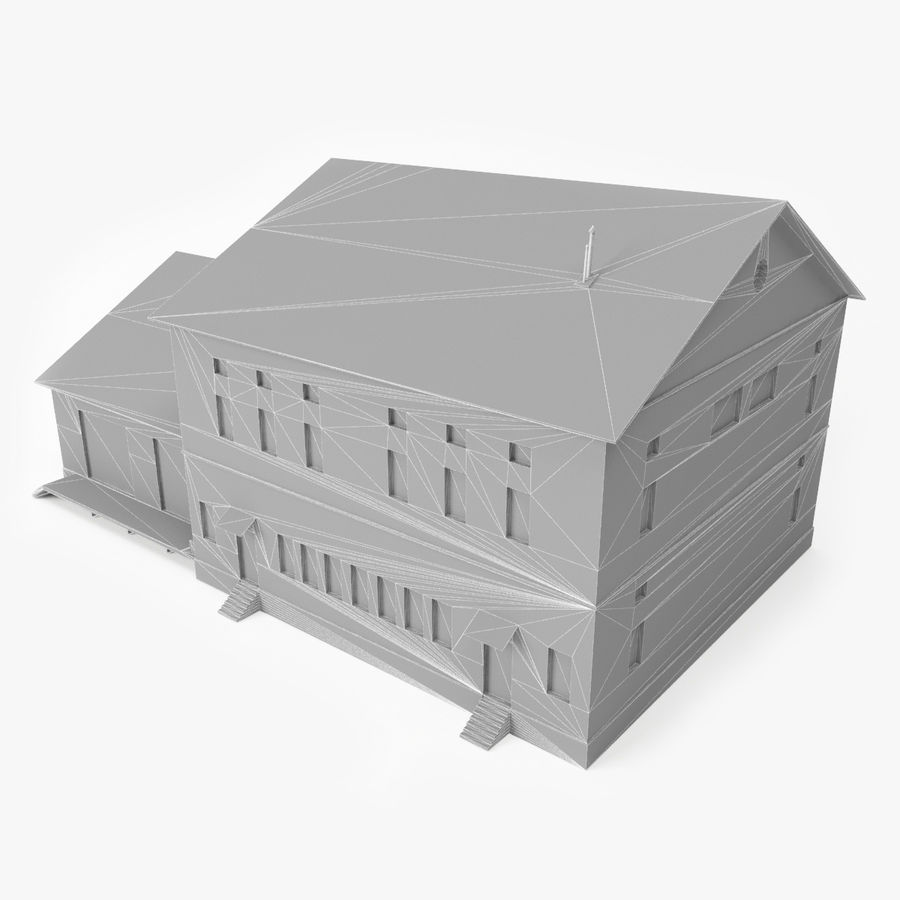 Industrial Building I royalty-free 3d model - Preview no. 11