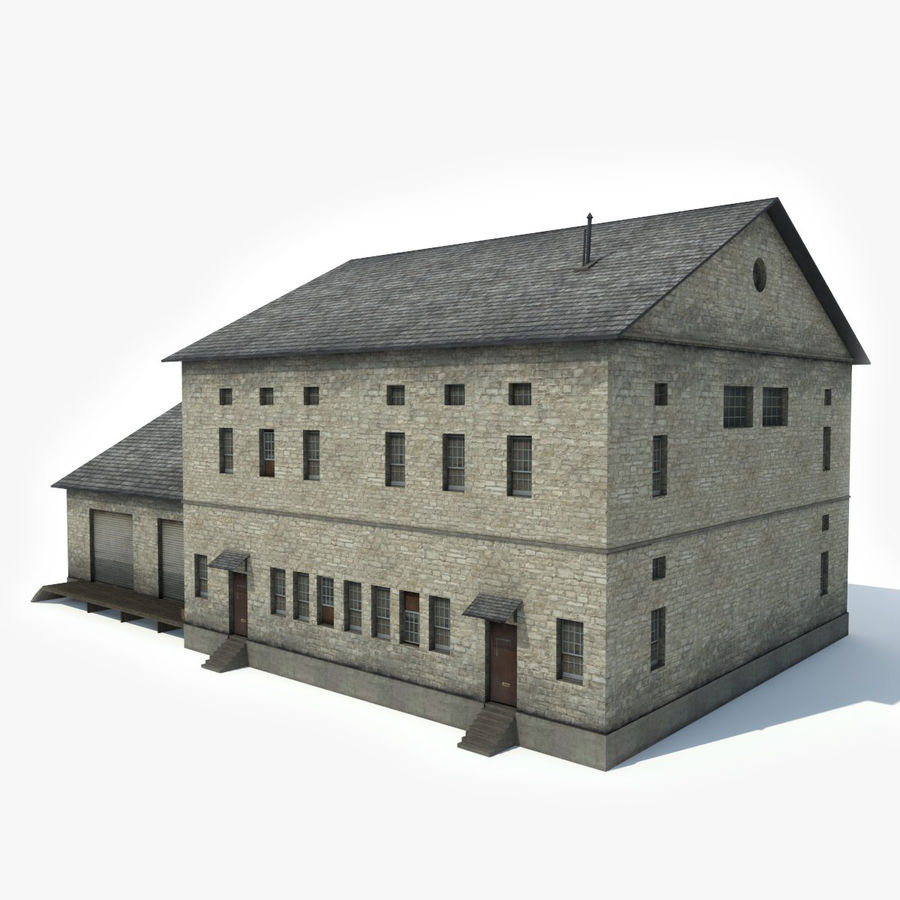 Industrial Building I royalty-free 3d model - Preview no. 2