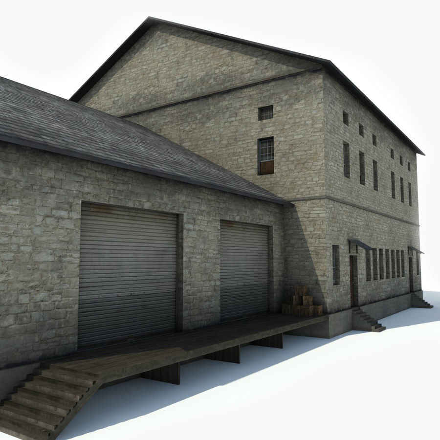 Industrial Building I royalty-free 3d model - Preview no. 3