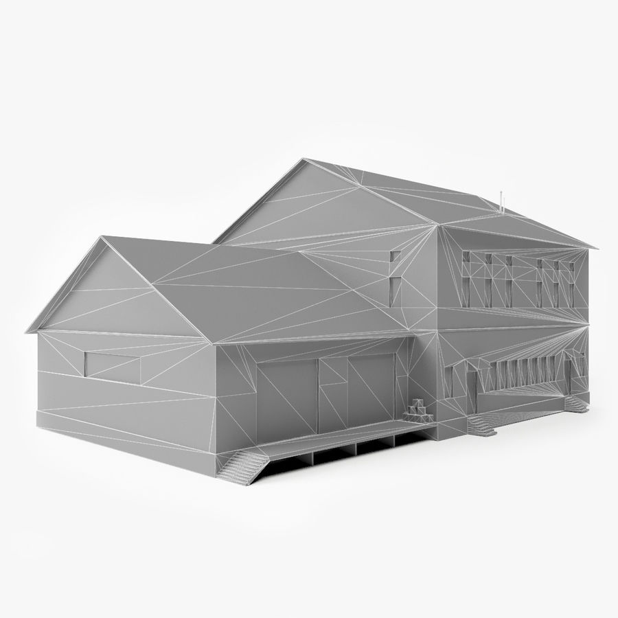 Industrial Building I royalty-free 3d model - Preview no. 9