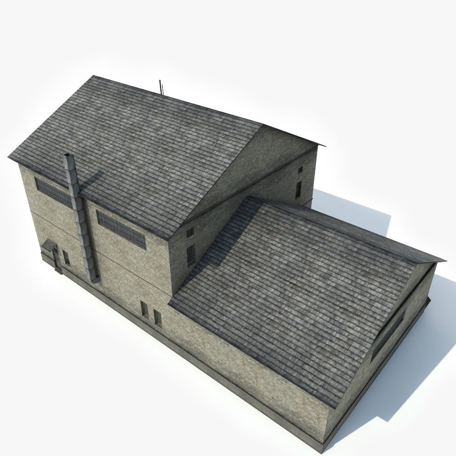 Industrial Building I royalty-free 3d model - Preview no. 5