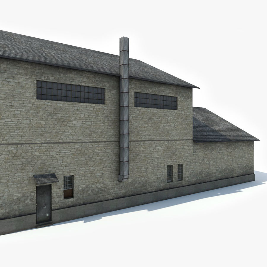 Industrial Building I royalty-free 3d model - Preview no. 6