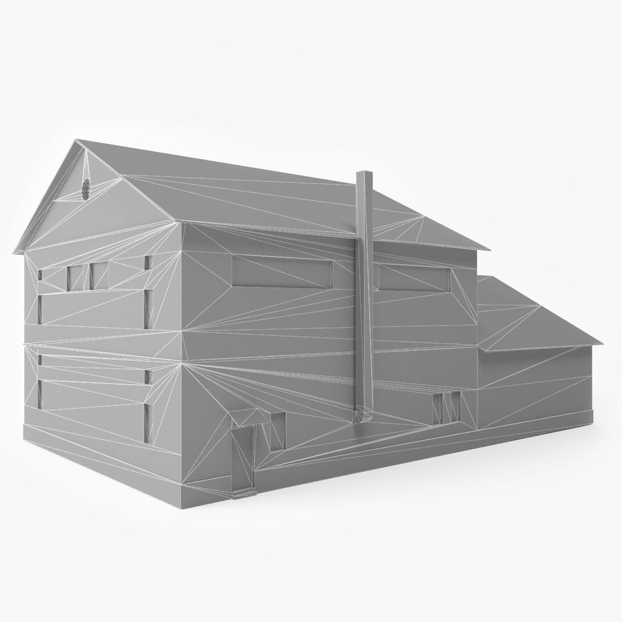 Industrial Building I royalty-free 3d model - Preview no. 10