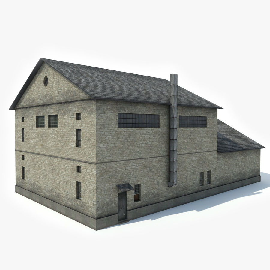 Industrial Building I royalty-free 3d model - Preview no. 4