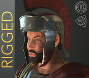 Roman Soldier PBR Rigged -With hair and Beard 3d model