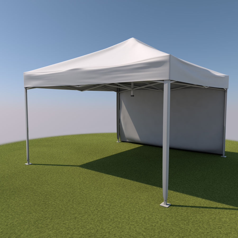 Event Tent Covered royalty-free 3d model - Preview no. 7