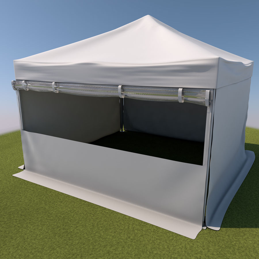 Event Tent Covered royalty-free 3d model - Preview no. 2