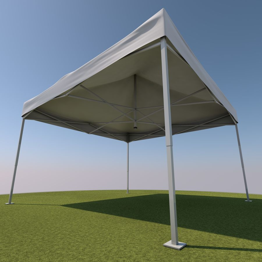 Event Tent Covered royalty-free 3d model - Preview no. 8