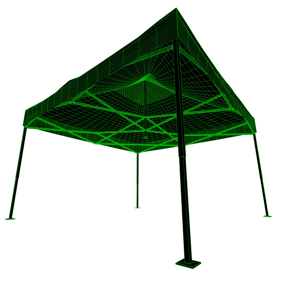 Event Tent Covered royalty-free 3d model - Preview no. 9