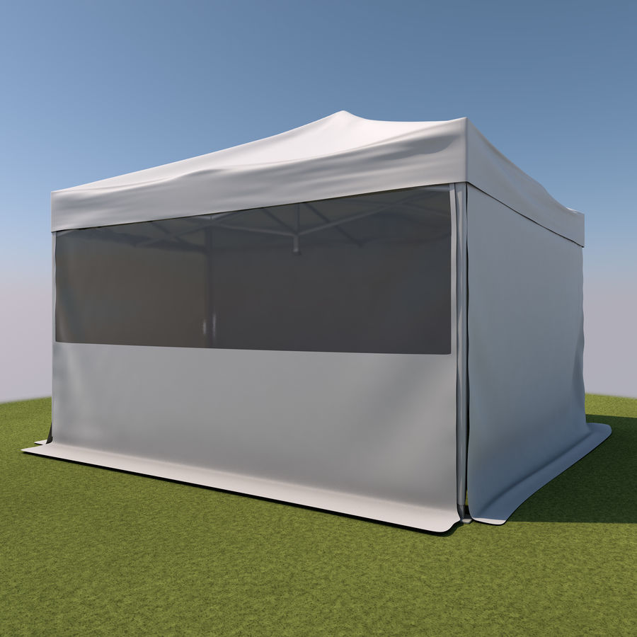 Event Tent Covered royalty-free 3d model - Preview no. 3