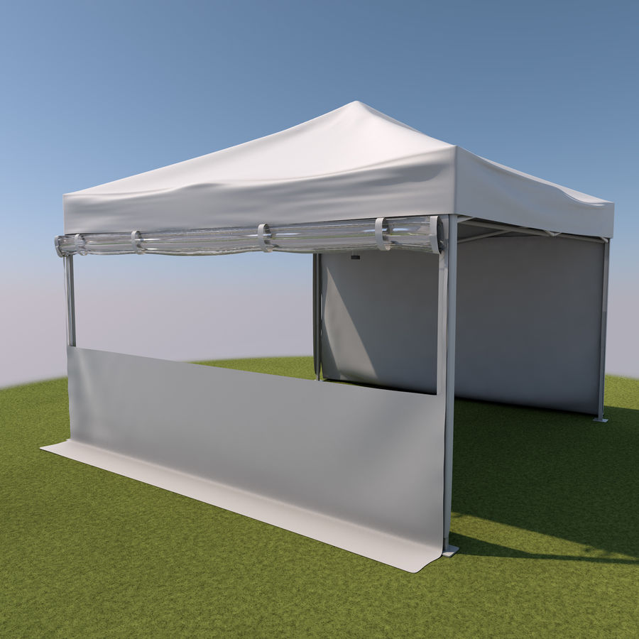Event Tent Covered royalty-free 3d model - Preview no. 4