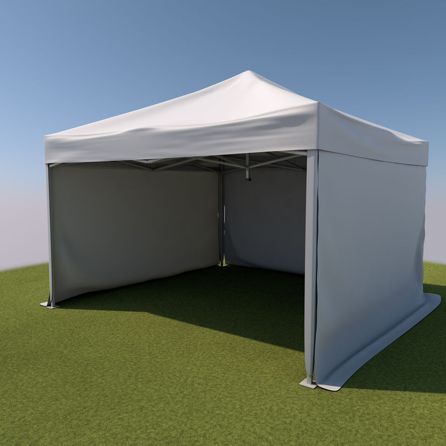 Event Tent Covered royalty-free 3d model - Preview no. 5