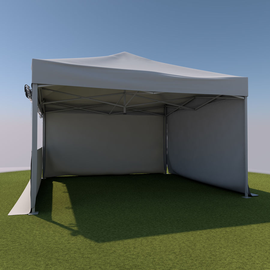 Event Tent Covered royalty-free 3d model - Preview no. 6