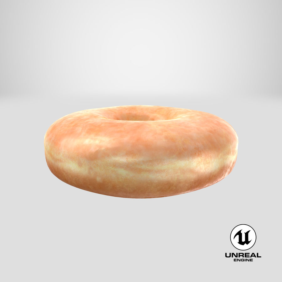 Donut 04 - Plain royalty-free 3d model - Preview no. 25