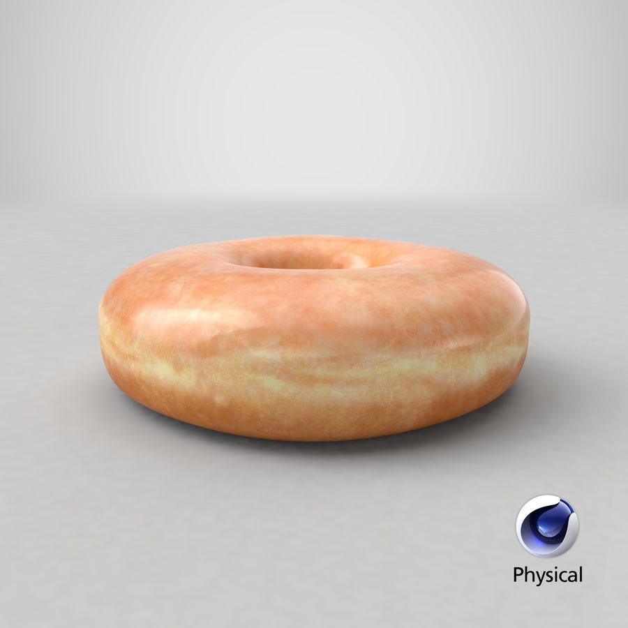 Donut 04 - Plain royalty-free 3d model - Preview no. 33