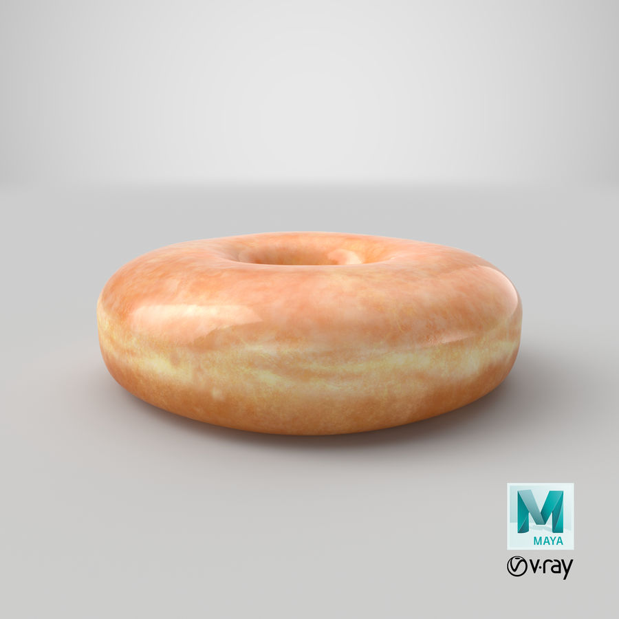 Donut 04 - Plain royalty-free 3d model - Preview no. 21