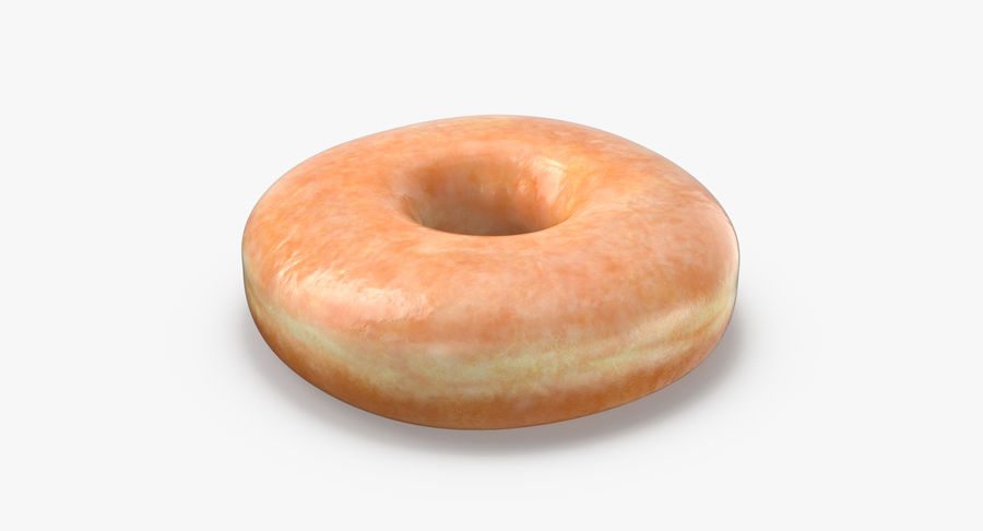 Donut 04 - Plain royalty-free 3d model - Preview no. 5