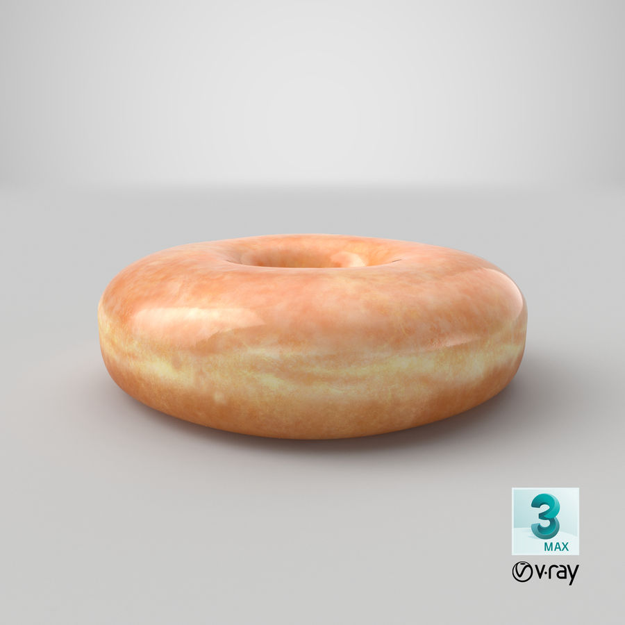Donut 04 - Plain royalty-free 3d model - Preview no. 29