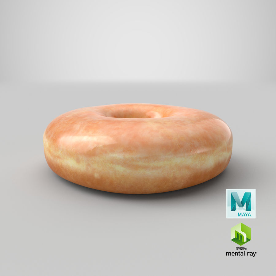 Donut 04 - Plain royalty-free 3d model - Preview no. 28