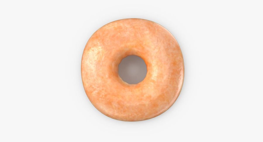 Donut 04 - Plain royalty-free 3d model - Preview no. 9
