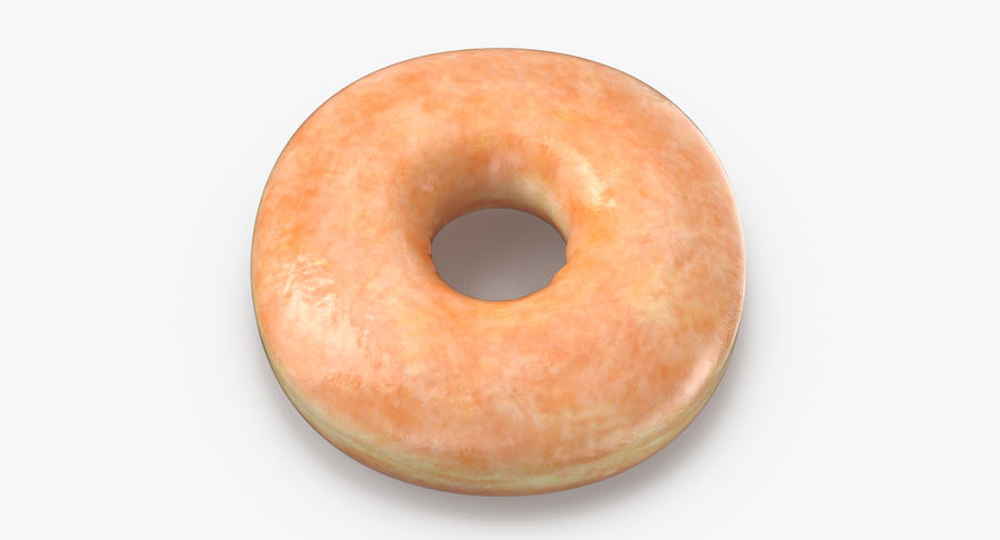 Donut 04 - Plain royalty-free 3d model - Preview no. 3