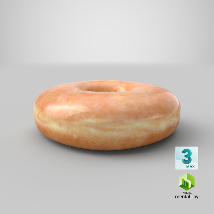Donut 04 - Plain royalty-free 3d model - Preview no. 30