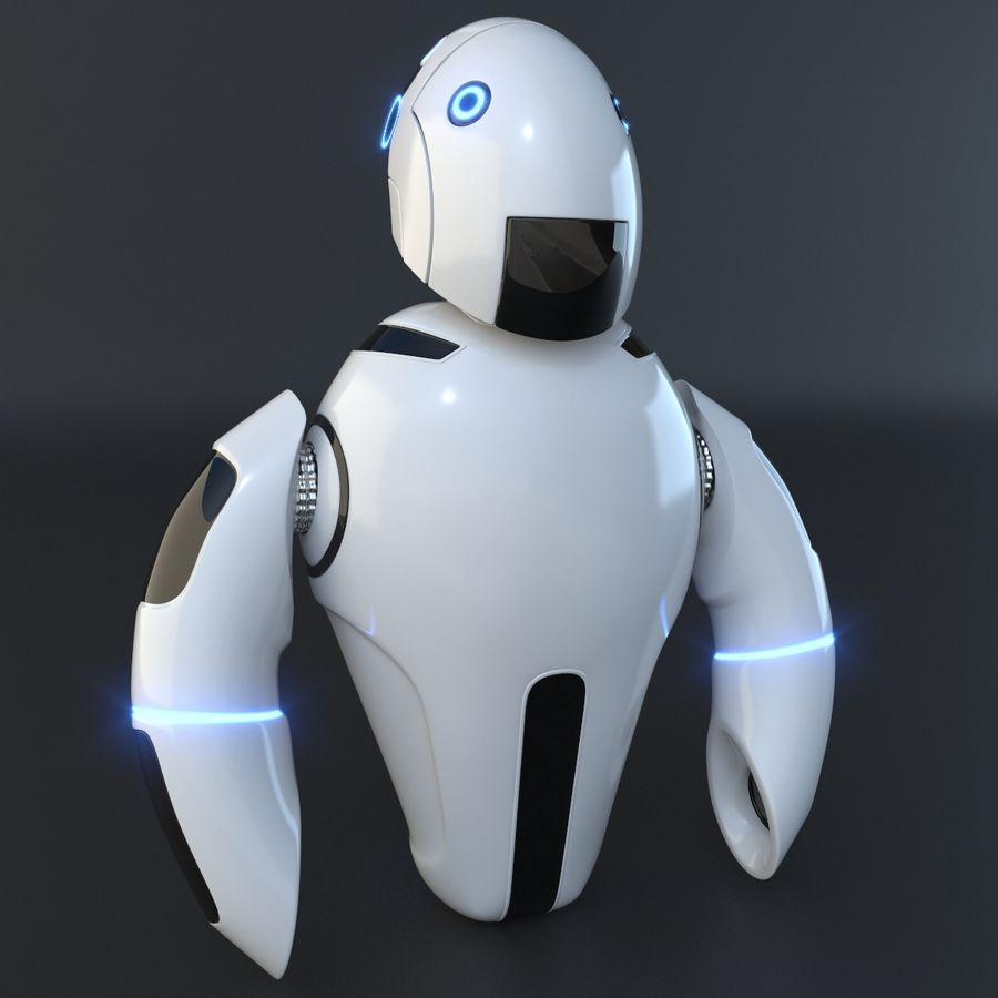 Flying Robot royalty-free 3d model - Preview no. 2