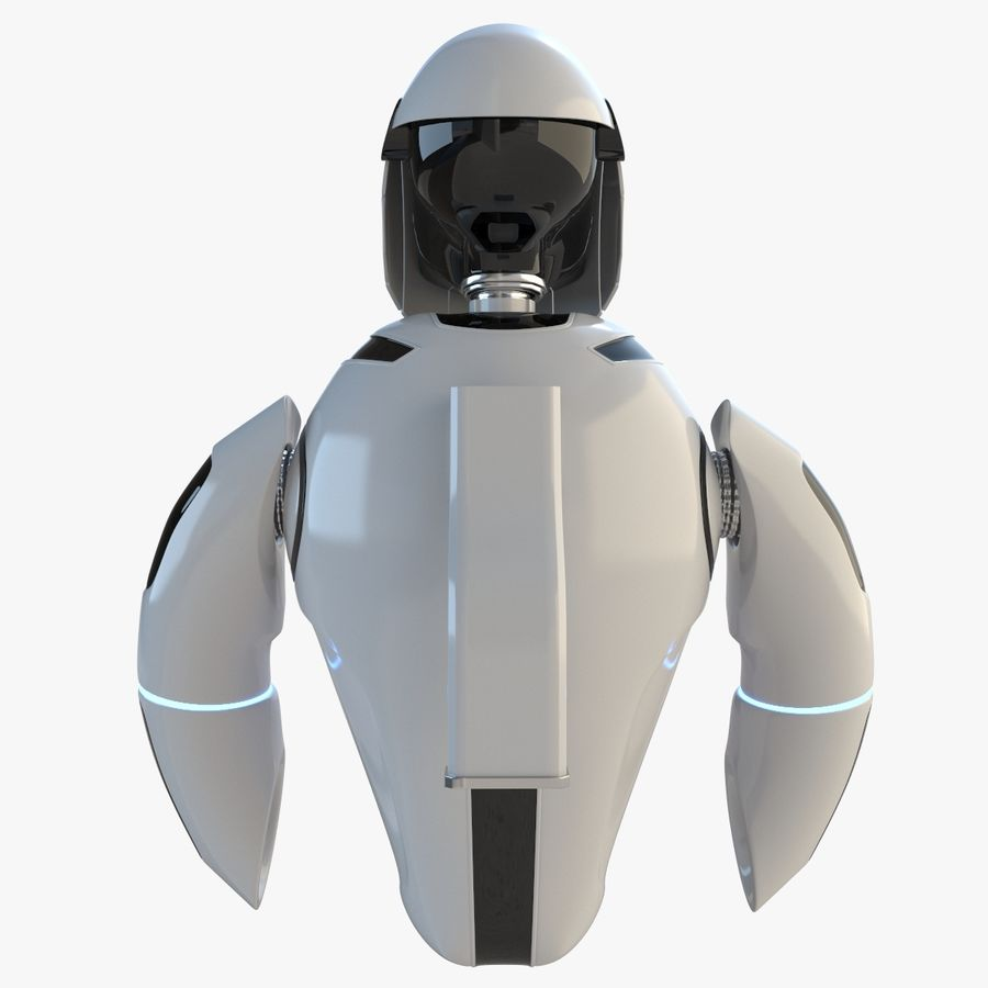 Flying Robot royalty-free 3d model - Preview no. 4