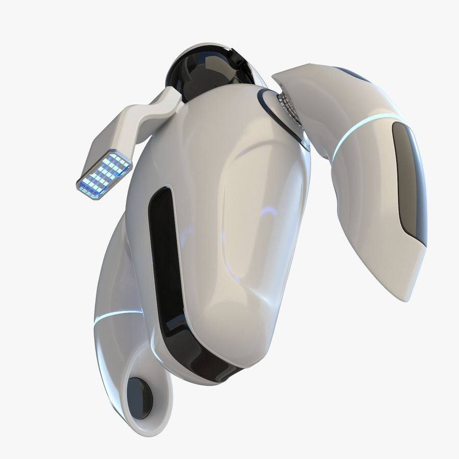 Flying Robot royalty-free 3d model - Preview no. 3