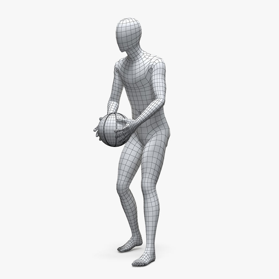 Mannequin de sport homme 4 royalty-free 3d model - Preview no. 2