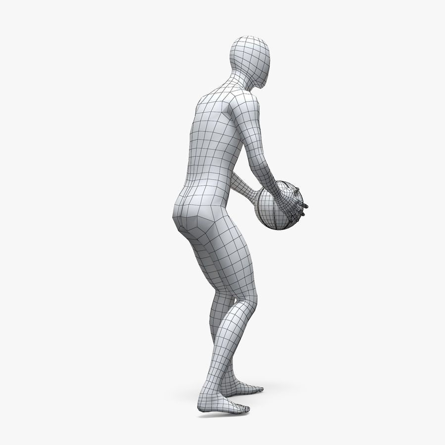 Mannequin de sport homme 4 royalty-free 3d model - Preview no. 8