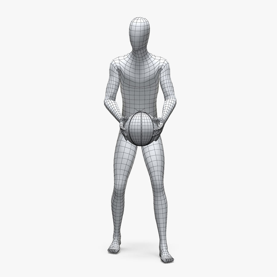 Male sport mannequin 4 royalty-free 3d model - Preview no. 4