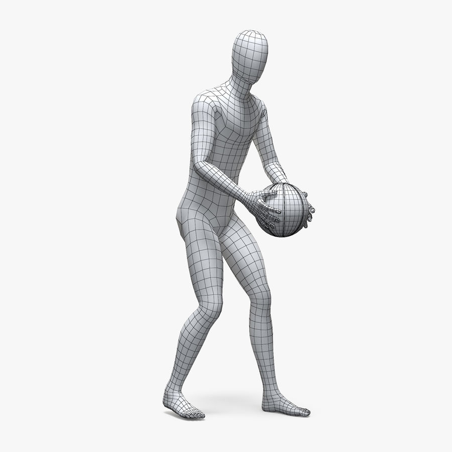 Mannequin de sport homme 4 royalty-free 3d model - Preview no. 6