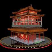 Китайский дом 3d model