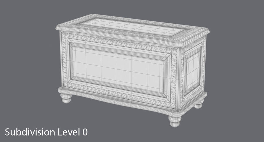 Hope Chest 02 Closed royalty-free 3d model - Preview no. 12