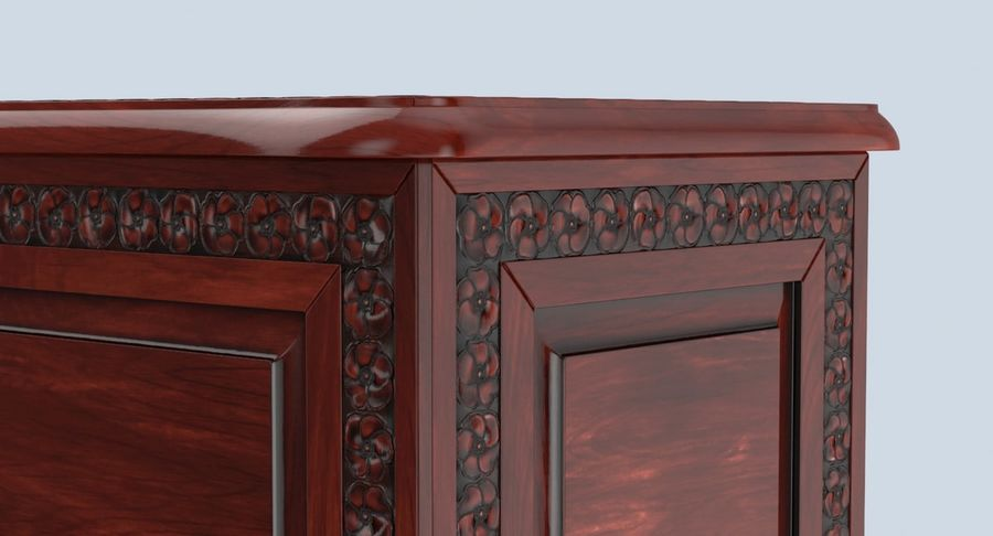 Hope Chest 02 Closed royalty-free 3d model - Preview no. 8