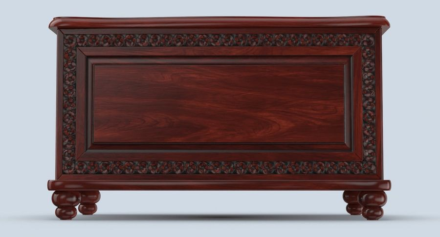 Hope Chest 02 Closed royalty-free 3d model - Preview no. 7