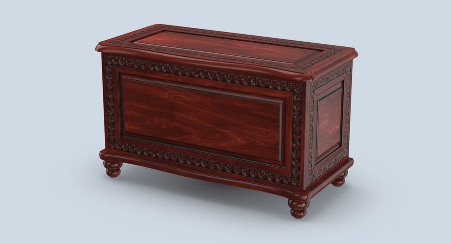 Hope Chest 02 Closed royalty-free 3d model - Preview no. 3