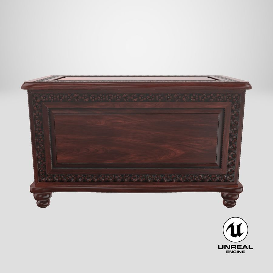 Hope Chest 02 Closed royalty-free 3d model - Preview no. 21