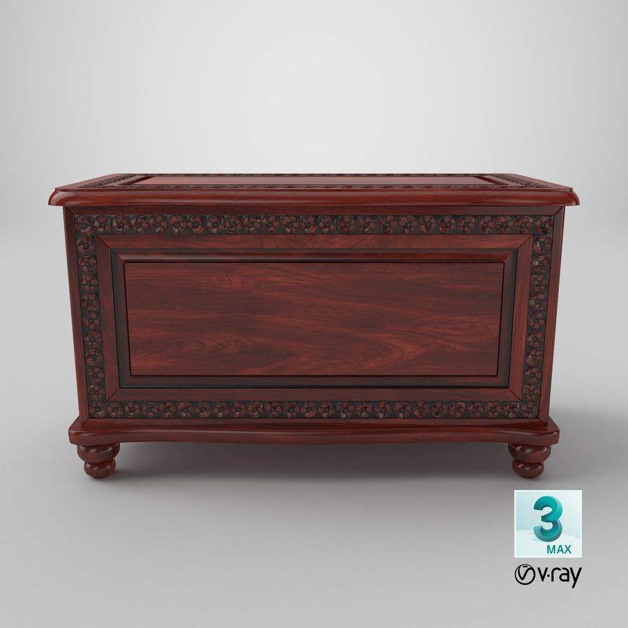 Hope Chest 02 Closed royalty-free 3d model - Preview no. 19