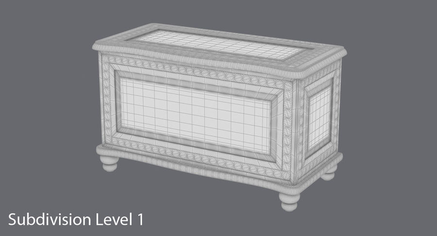 Hope Chest 02 Closed royalty-free 3d model - Preview no. 15