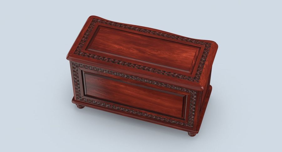 Hope Chest 02 Closed royalty-free 3d model - Preview no. 6