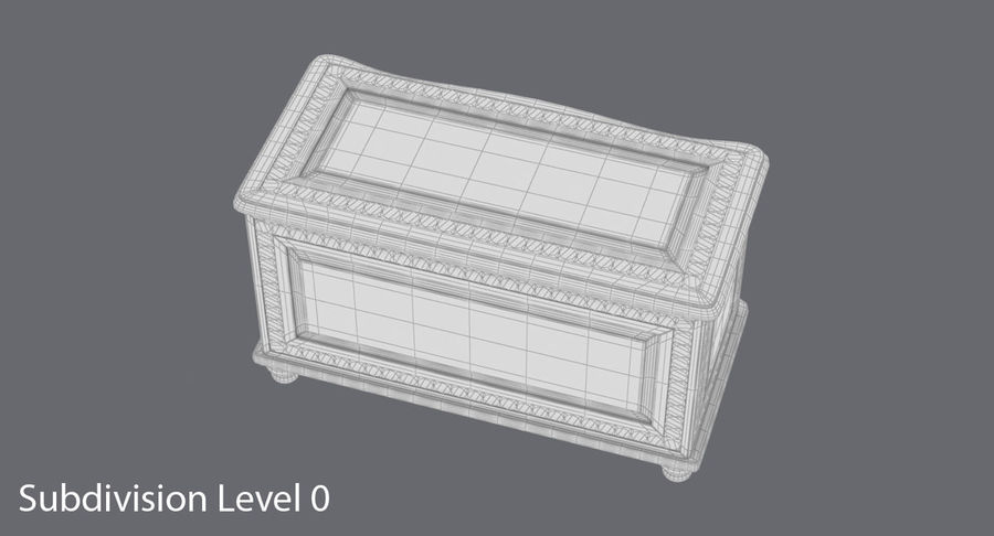Hope Chest 02 Closed royalty-free 3d model - Preview no. 14
