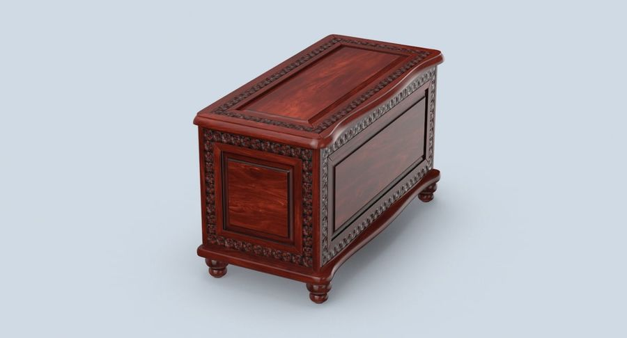 Hope Chest 02 Closed royalty-free 3d model - Preview no. 4