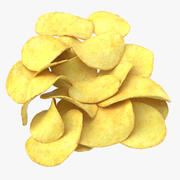 Potato Chips Pile 01 3d model