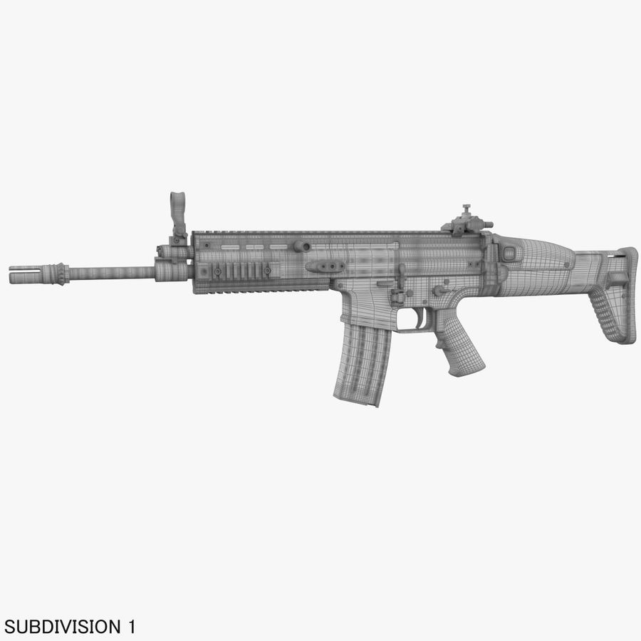 Assault Rifle SCAR royalty-free 3d model - Preview no. 26
